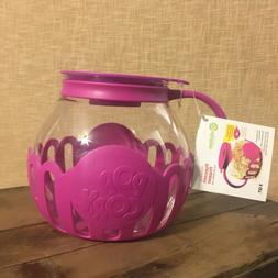 micro pop popcorn popper for microwave fuschia