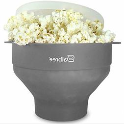 Microwavable Popcorn Popper w/ Lid Silicone Popcorn Maker Co