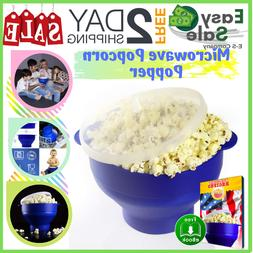 Ess Microwave Popcorn Popper Maker Collapsible Bowl Home Han