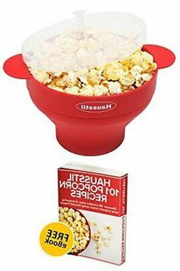 Microwave Air Popcorn Popper - Silicone Popcorn Maker Bowl f