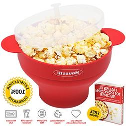 Microwave Air Popcorn Popper - Silicone Popcorn Maker Bowl f