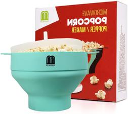 Microwave Oven Silicone Popcorn Popper Maker Bowl Red One Co