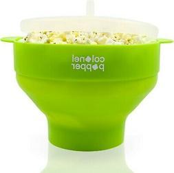Colonel Popper Microwave Popcorn Popper, Healthy Silicone Po
