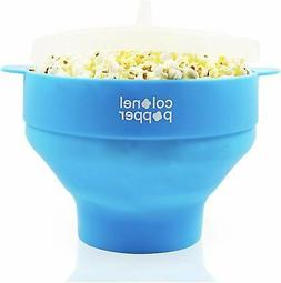 Microwave Popcorn Maker Air Popper Silicone Bowl Use Any Ker