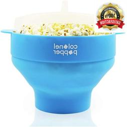 Microwave Popcorn Maker Air Popper Silicone Bowl - Use any K