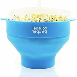 Colonel Popper Microwave Popcorn Maker Air Silicone Bowl - U