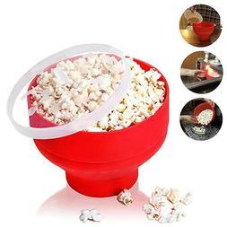Colonel Popper Microwave Popcorn Maker, No Oil Healthy Silic