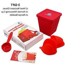 Microwave Popcorn Popper, Hot Air Silicon Popcorn Maker, Hea