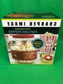 Microwave Popcorn Popper Sharper Image 6 Old Fashioned Popco