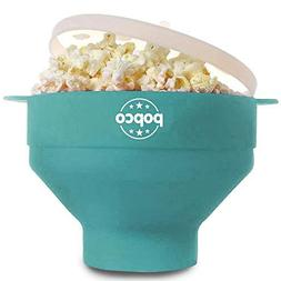 The Original POPCO Microwave Popcorn Popper, Silicone Popcor