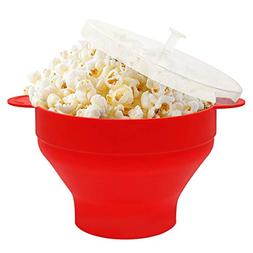 Microwave Popcorn Popper, HIPPIH 100% BPA Free Silicone Popc