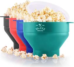 Zulay Kitchen Microwave Popcorn Popper Collapsible BPA Free