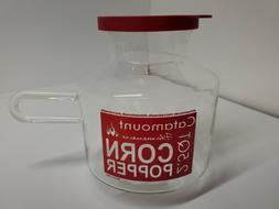 Microwave Popcorn Popper Catamount Glass Corn Popper 2 1/2 Q