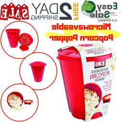 Ess Microwave Popcorn Popper Maker Silicone Heat Resistant B