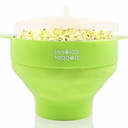 Colonel Popper Microwave Popcorn Popper Maker - Silicone Hot