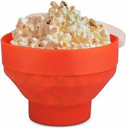 Microwave Popcorn Popper Maker with Lid Collapsible Silicone
