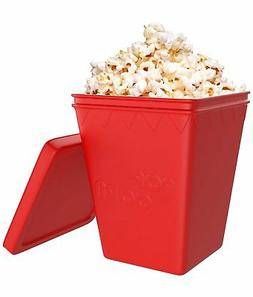 Microwave Popcorn Popper Saves Calories Silicone Hot Air Pop