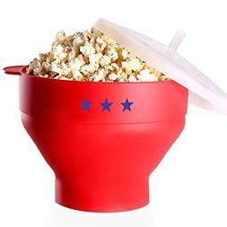 Microwave Popcorn Popper – Silicone BPA Free - The Origina