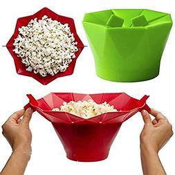 PAPWOO Microwave Popcorn Popper Silicone Popcorn Maker Colla