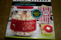 SHARPER IMAGE MICROWAVE POPCORN POPPER SOLID GLASS LID BAGS