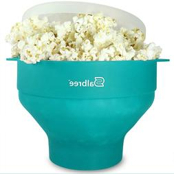 Microwave Popcorn Popper with Lid Silicone Maker Collapsible