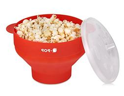 Microwave Silicone Popcorn Popper | Collapsible Bowl | FDA A