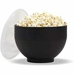 Microwave Silicone Popcorn Popper Maker Black Collapsible Bo