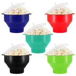 Microwave Oven Silicone Popcorn Popper Maker Bowl Collapsibl