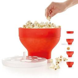 Zoomy far: Microwaveable Popcorn Maker Pop Corn Bowl With Li