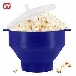 Microwaveable Silicone Popcorn Popper, BPA Free Collapsible