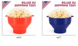 Microwave Silicone Popcorn Popper Maker Bowl Collapsible Hea