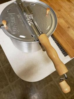 Never Used Whirley Pop Stovetop Metal Gear Popcorn Popper Wa