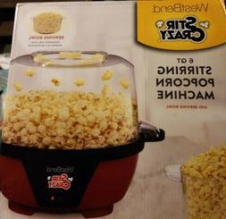 NEW West Bend 82595 Stir Crazy 6 Qt. Stirring Popcorn Machin