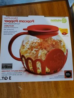 NEW In Box!! Ecolution Micro-Pop Microwave Popcorn Popper 3q