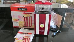 New Bella Model #911-B Hot Air Popcorn Popper Maker In Red/W