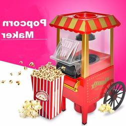 NEW Retro Popcorn Maker Electric Machine For Party Home Kitc