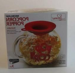 NIB Laroma Micro Pop Microwave Popcorn Popper 3 Quart Capaci