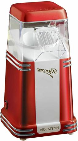 Nostalgia 8-Cup Hot Air Popcorn Maker Countertop Oil-Free Po