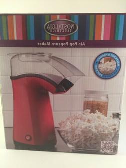 Nostalgia Air Pop Hot Air Popcorn Popper with Measuring & Bu