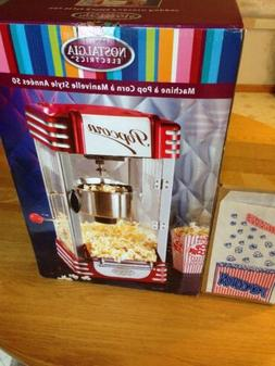 Nostalgia Electric RKP-630 Retro Style Kettle Popcorn Maker