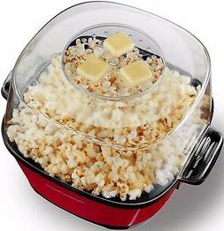 NEW Hot Oil Popcorn Popper Maker Machine Non-Stick Auto Stir