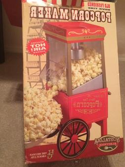 Old Fashioned Movie Time Popcorn Machine Candy Maker Popper