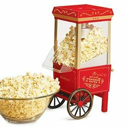 Old Fashioned Popcorn Machine 1040 W 120 V, 12Cup Red Theate