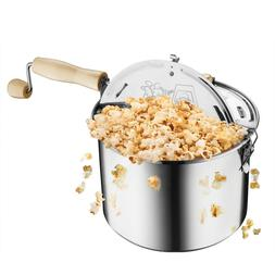 Original Stainless Stove Top 6 1/2 Quart Popcorn Popper by G