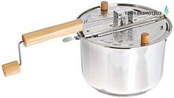 Pan Popcorn Maker Cooking Best Popper for Home cooker Hot Oi