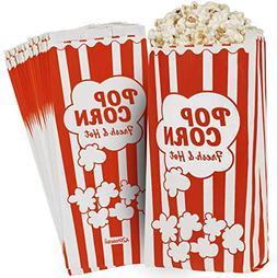 "Paper Popcorn Bags 2oz 11 X 5 X 3"" Leak / Grease Proof Preve"