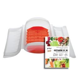 Lekue 3-4 Person Steam Case With Draining Tray and Bonus 10