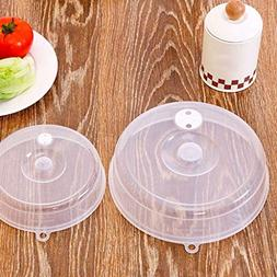 MSOO 2PCS Plastic Microwave Plate Cover Clear Steam Vent Spl
