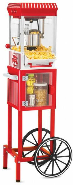 Popcorn Cart Machine Popper Maker Vintage Collection Red Sta