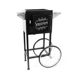 popcorn machine cart trolley section black